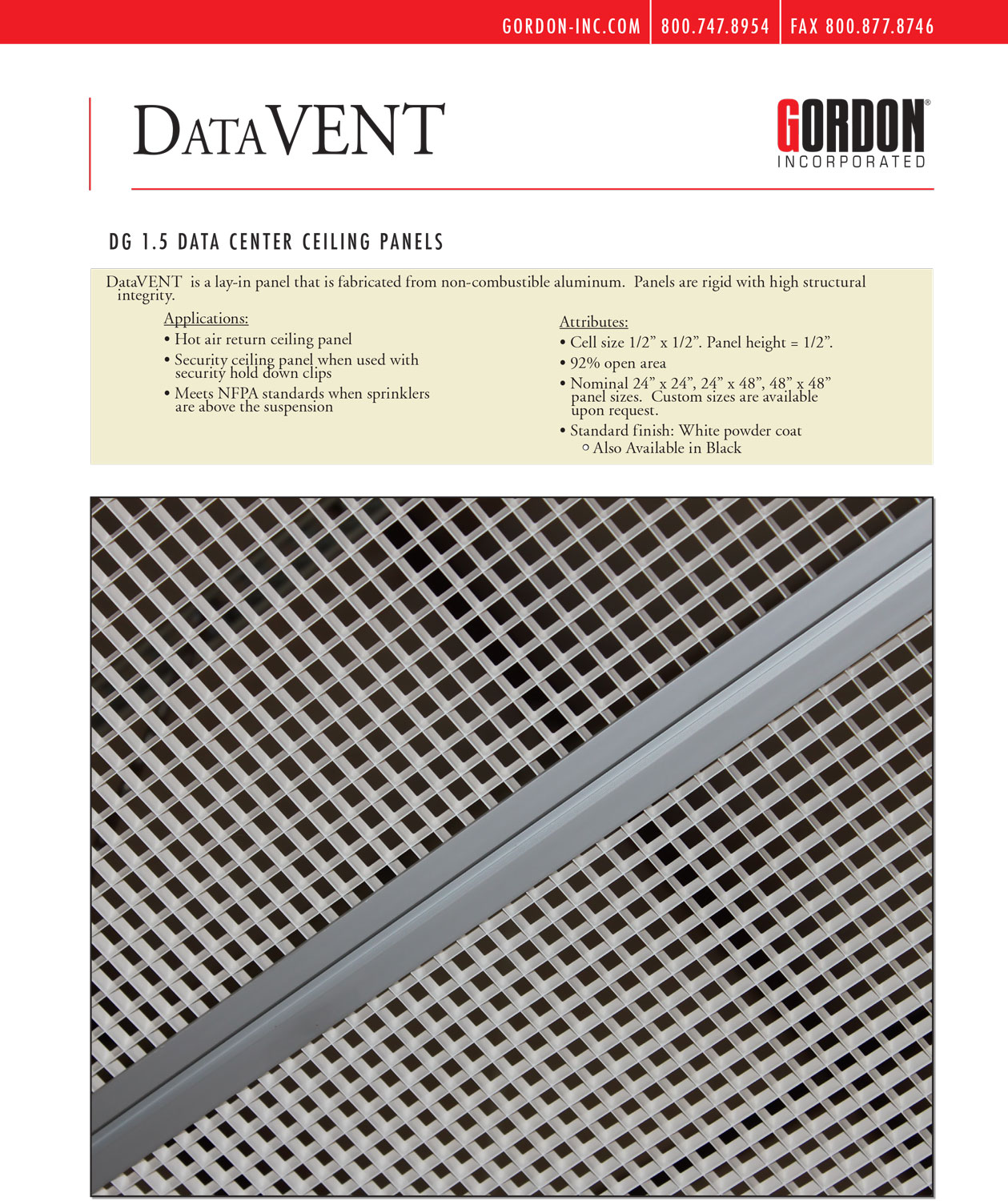 DataVENT Brochure, Gordon, Jas Filtration