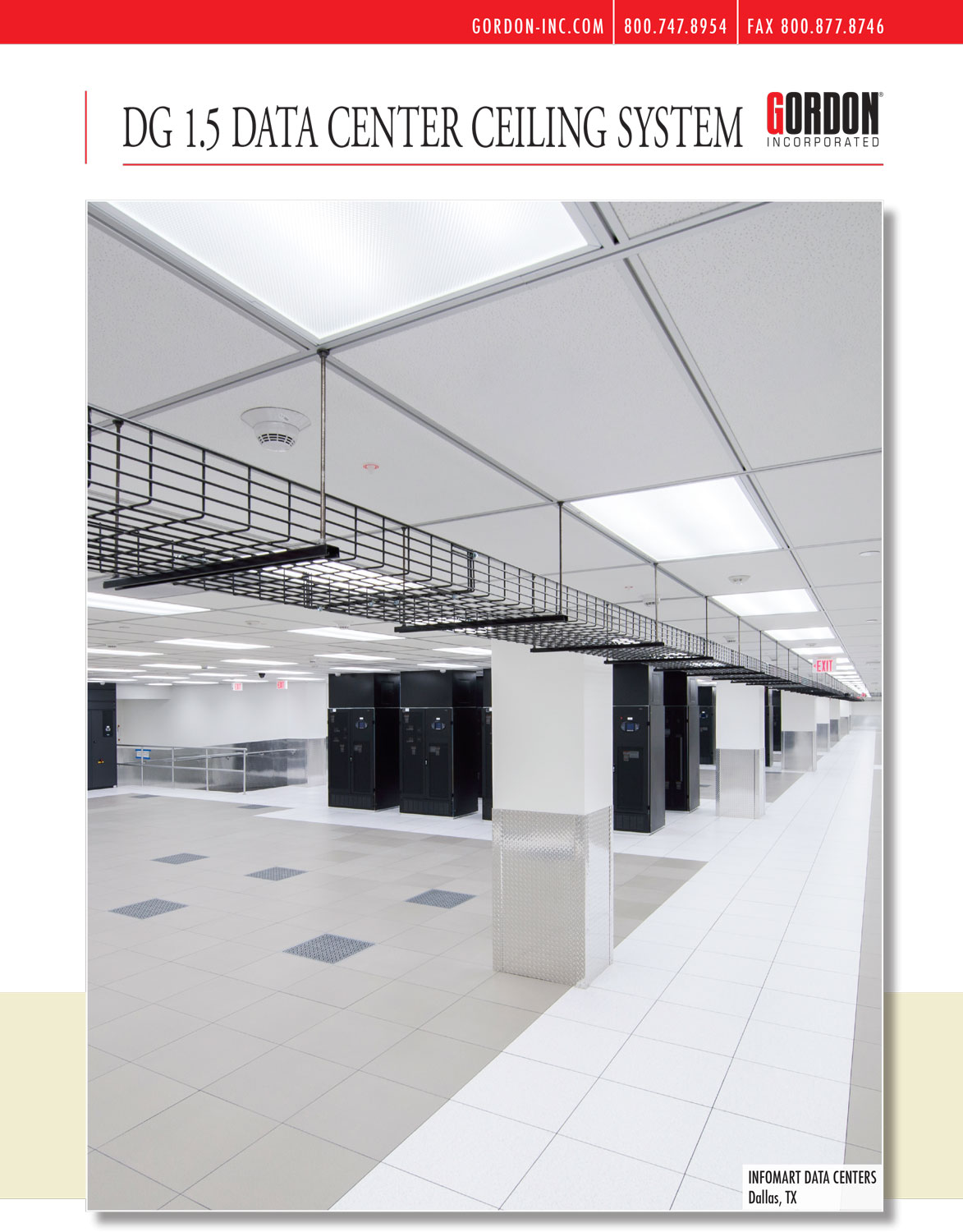DG 1.5 Data Center Ceiling System, Gordon, Jas Filtration